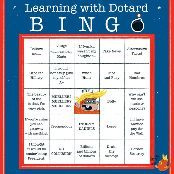 Learning With Dotard Bingo Card