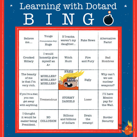 Trump bingo card